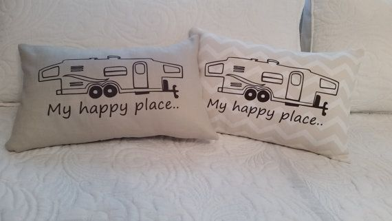 Hey, I found this really awesome Etsy listing at https://www.etsy.com/listing/231500689/hybrid-camper-pillow-my-happy-place-free