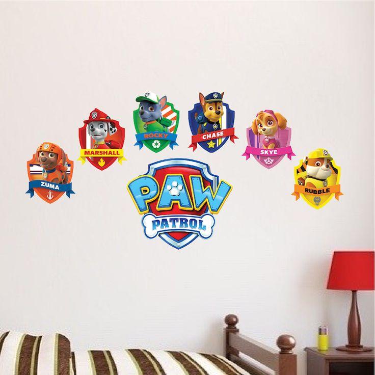 Paw Patrol Logo Wall Decal - Paw Patrol Kids Bedroom Wall Decal Decor - Paw Dog Birthday Party Theme Decor - Primedecals