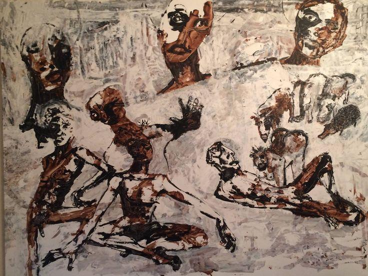 """Kell Jarner 2016. """"Varslet"""" (""""The Sign"""").  200x150 cm. Find it at: Gallerie Lorien  Frydendalsvej 31  DK-1809 Frederiksberg"""