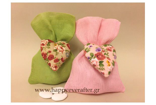POUCHES WITH PILLOW HEARTS ΜΠΟΜΠΟΝΙΕΡΑ ΒΑΠΤΙΣΗΣ