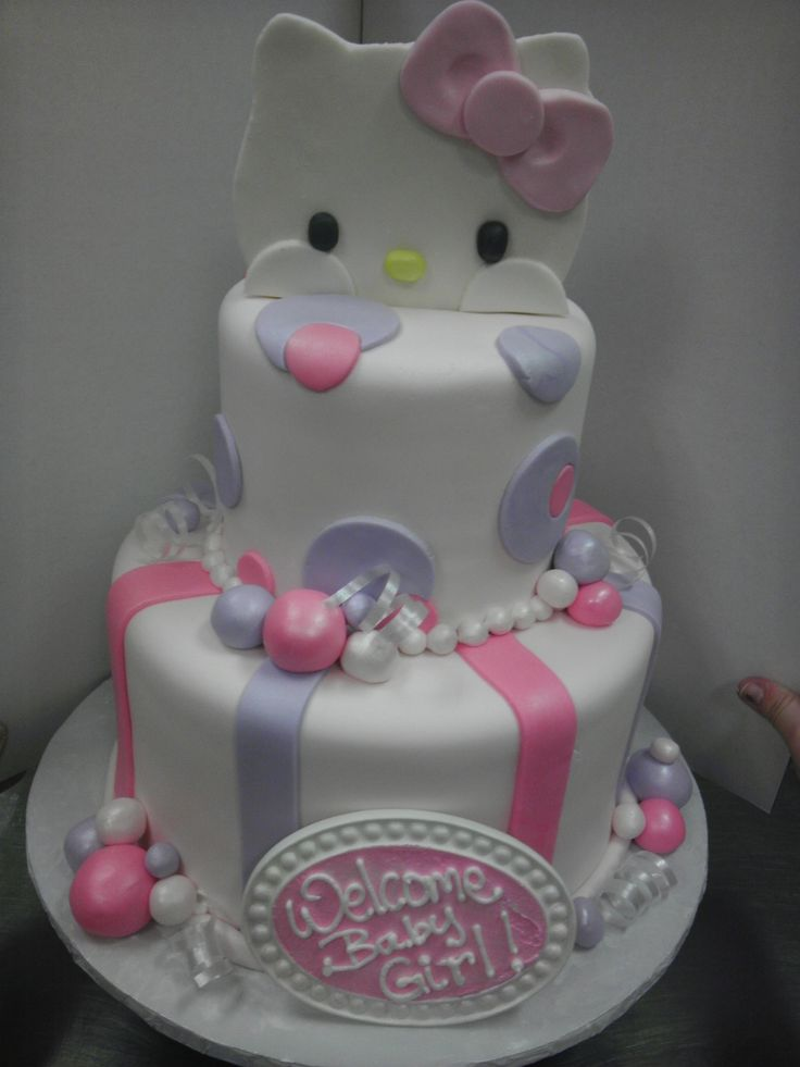 Baby Shower Themes Hello Kitty ~ Hello kitty baby shower cake cakes