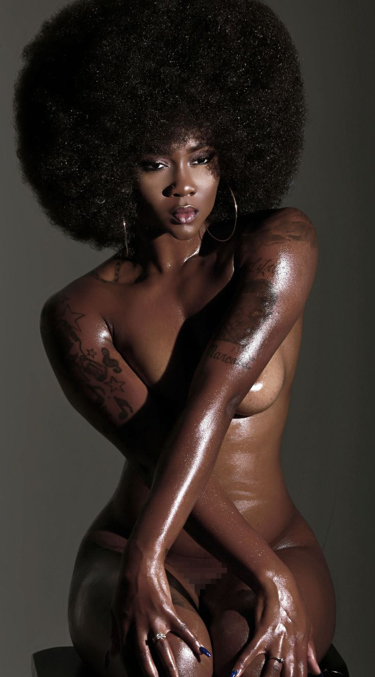 Sexy black woman photo
