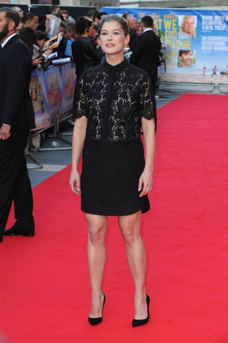 Pregnant Rosamund Pike at What We Did On Our Holiday UK Premiere