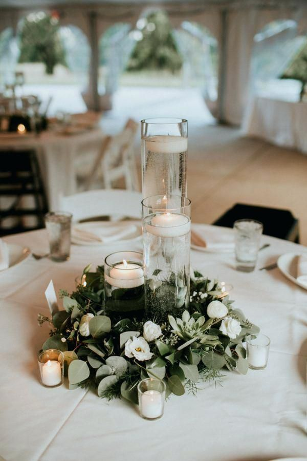 Simple Wedding Centerpieces For Round Tables Best Round Table Centerpieces Ideas O Greenery Wedding Centerpieces Greenery Wedding Decor Budget Friendly Wedding