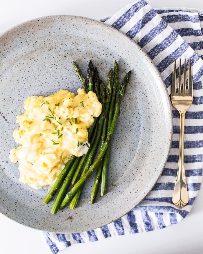 Eggs with Goat Cheese and Asparagus   A Couple Cooks