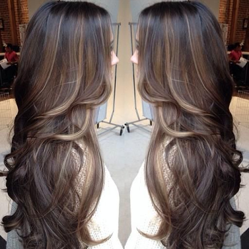 Balayage with low lights. Pretty