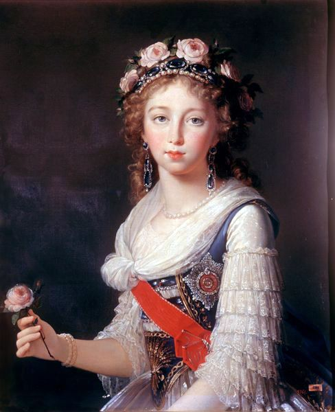 Grand Duchess Elisaveta Alexeevna 1795, half length one hand showing, location unknown better image is needed for authenticity