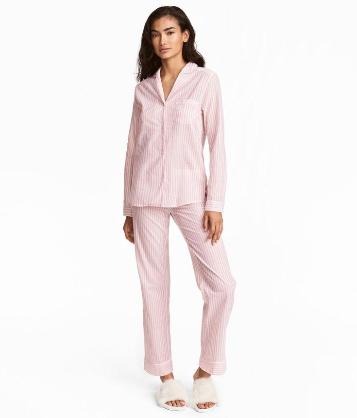 H&M - pyjamas skjorte og bukse 249 kr
