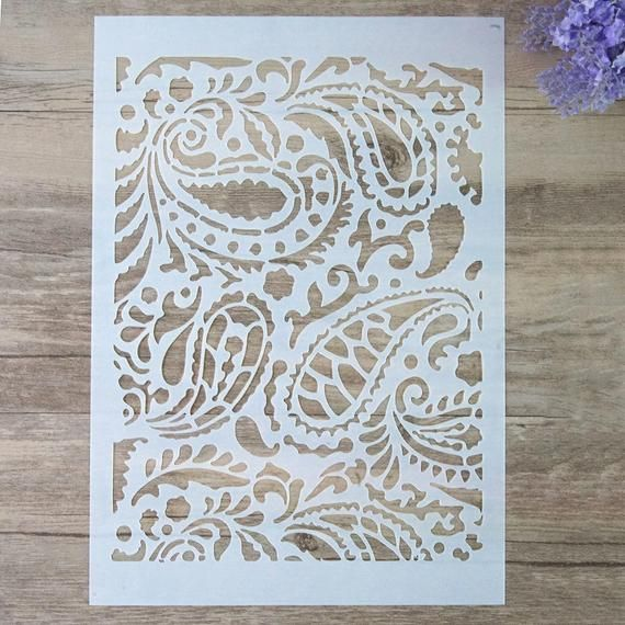 A2 Size DIY Decorative Stencil Template for Painting on Walls Furniture Crafts