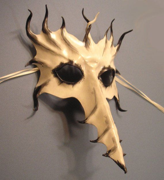 Venetian Raven Mask   Big Long Nose Leather Mask...Venetian...Bird...Dragon...Phoenix ...