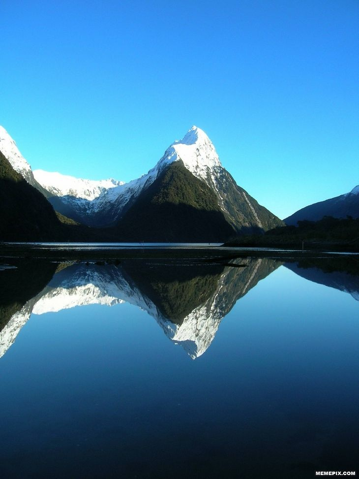 Picture perfect Milford Sound. One of the most beautiful places on earth, South Island, NZ.