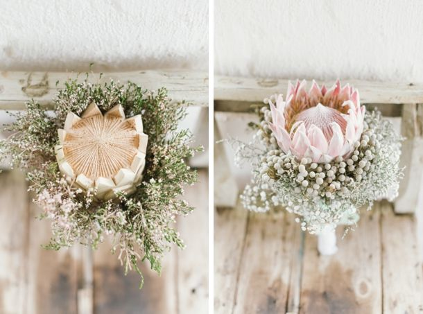 Pastel Protea South African Wedding by Yolande Marx