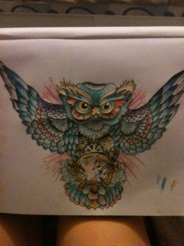 Traditional Owl Tattoo Design Owl Tattoo Design by