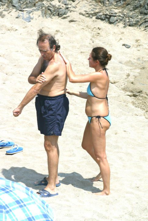 Con su mujer, Candela, año 2005