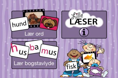 Lille læser er mikroværkstedets bud på en apps, der ved hjælp af skrift kan vise børnene, at de kan læse.