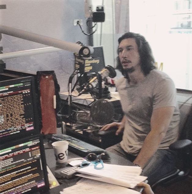 """reylo11: """"Adam Driver recording his Radio Times interview. """" @1captainswan1 look at him"""