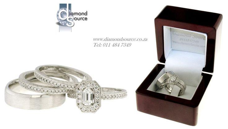 His and Hers – Wedding Set –  E: info@diamondsource.co.za W: www.diamondsource.co.za T: 011 484 7349