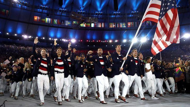 Team USA entering Olympic Stadium 2016