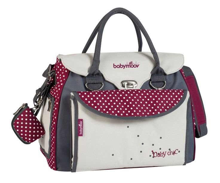 Babymoov Baby Style Chic Maternity Bag - Stone and Magenta