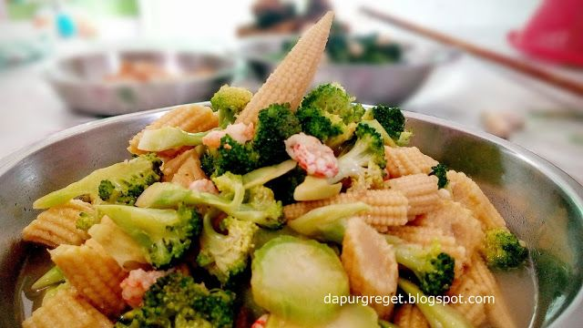 Dapur Greget: RESEP TUMIS BROKOLI JAGUNG MUDA  ( Broccoli and Ba...