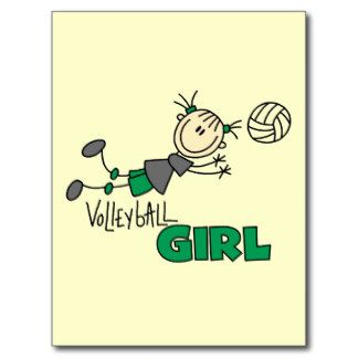 Volleyball-Mädchen-T-Shirts und Geschenke Postkarte