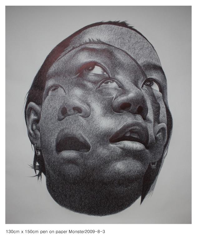 "Saatchi Online Artist: seungyea park; Pen and Ink, Drawing ""monster2009-8-3"""