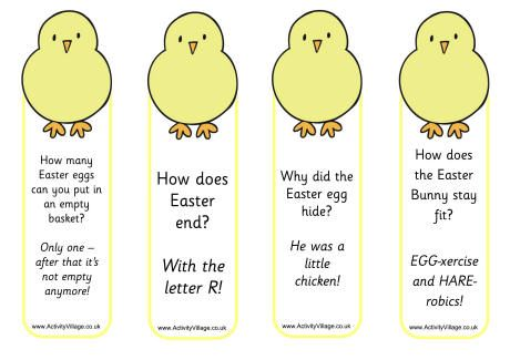 Chick jokes bookmarks