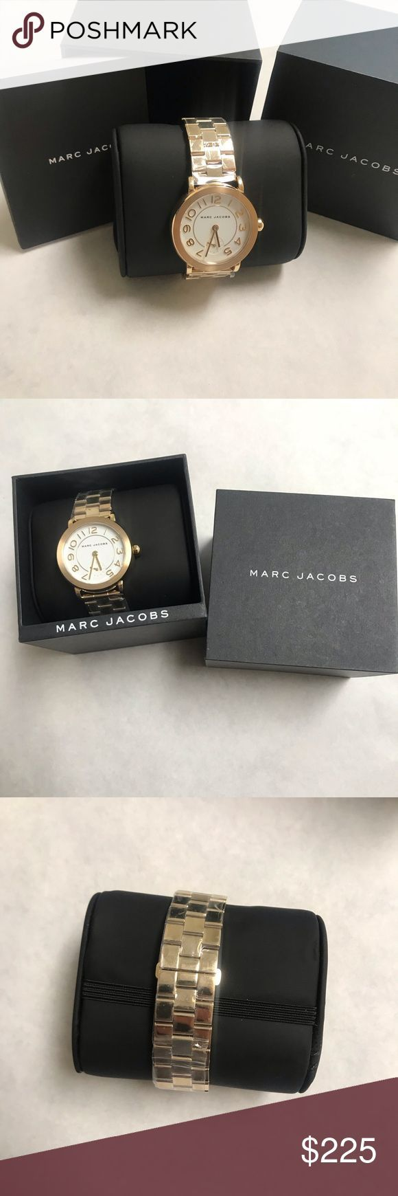 NEW Marc Jacobs gold stainless steel women's wat+#accented #Accessories #add #…