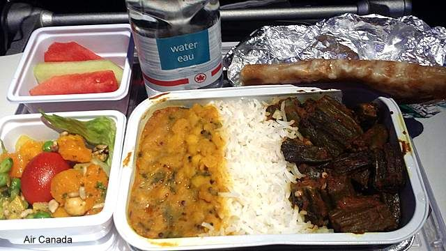 Air Canada meal was OK. The Nan was the best part.