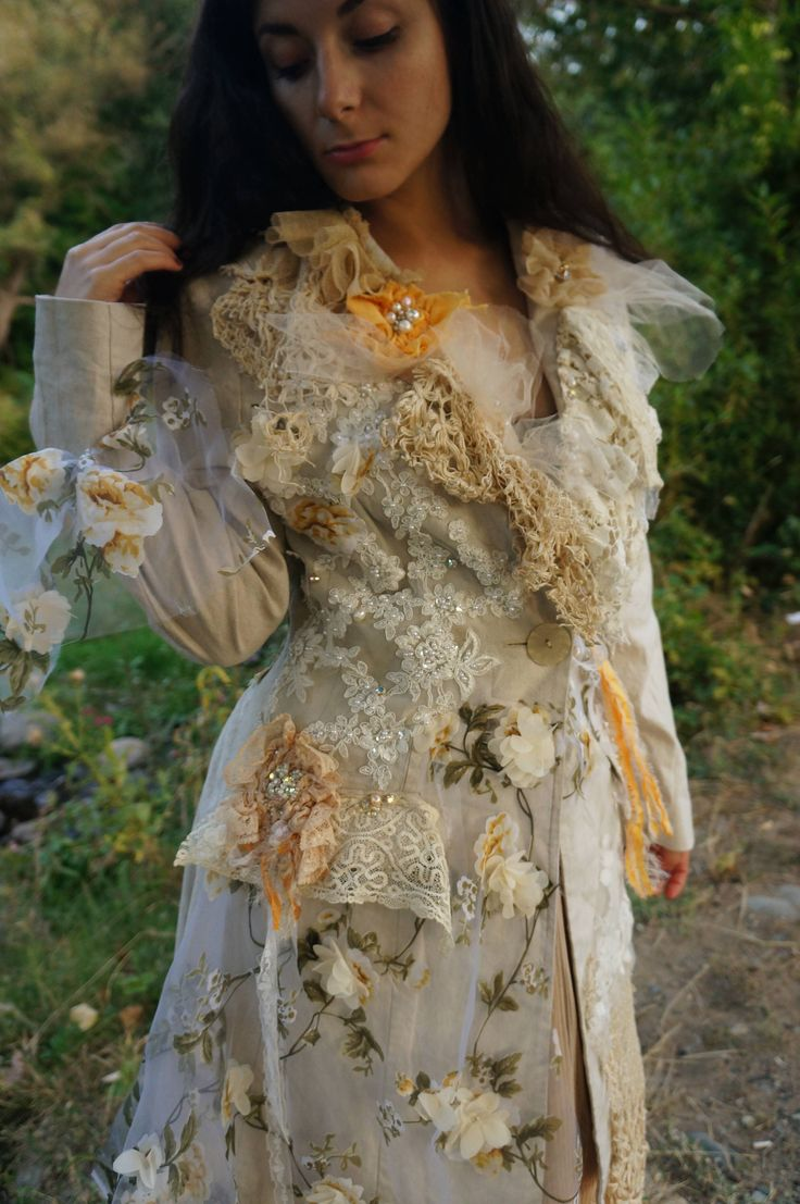 Forest Elf -Victorian Beaded jacket Reworked Baroque jacket Vintage Fairy jacket Unique alternative wedding jacket Lace jacket by MarzipanArt on Etsy https://www.etsy.com/au/listing/562285289/forest-elf-victorian-beaded-jacket