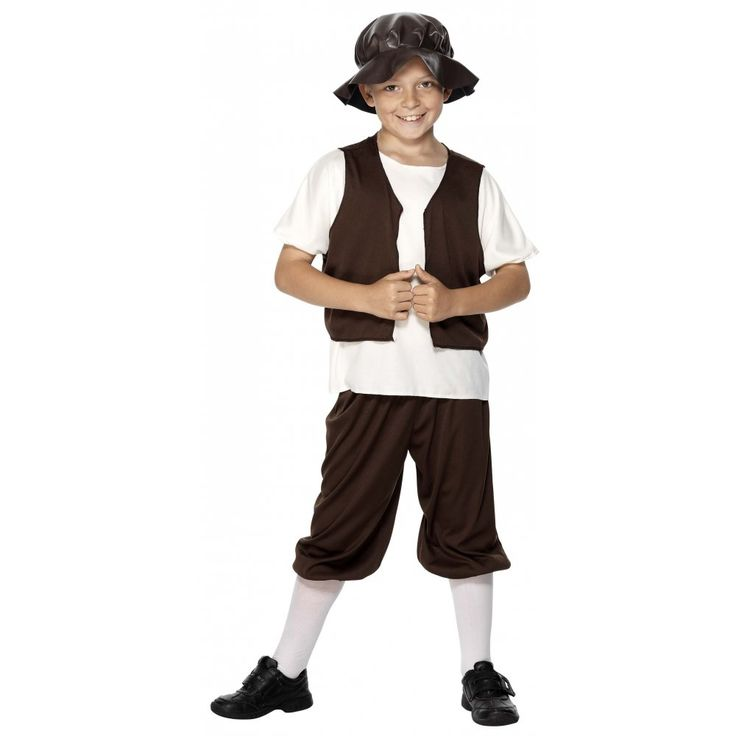 Details About Tudor Poor Boy Kids Costume Urchin Medieval -9266
