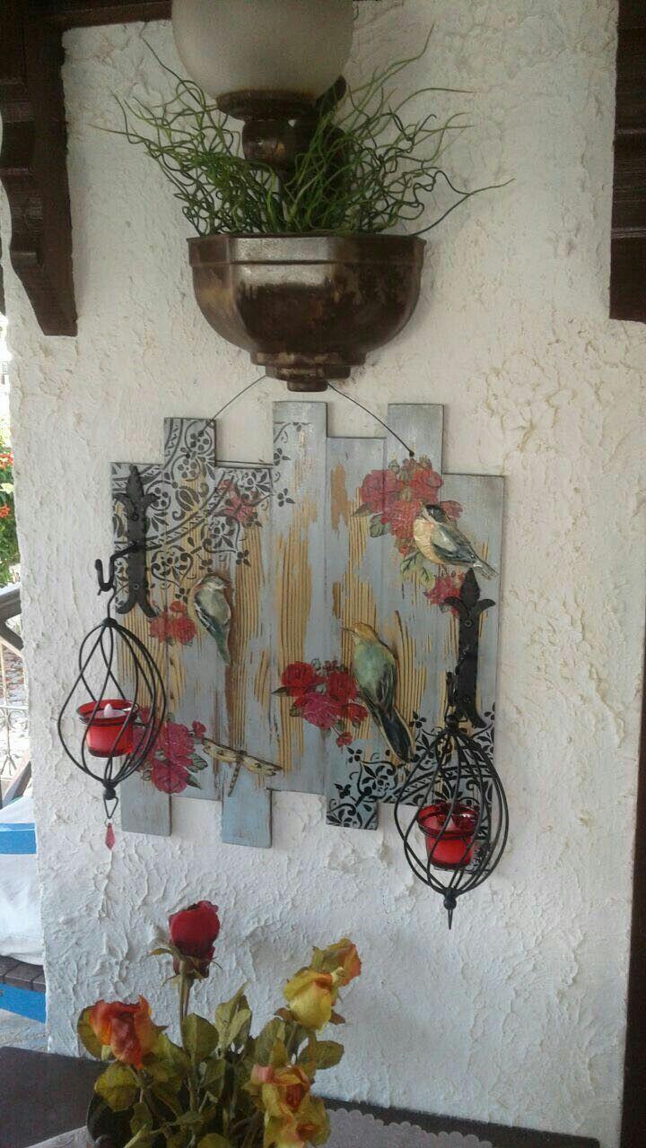 Budak doku#eskitme #decoupaje #dekoratif pano.
