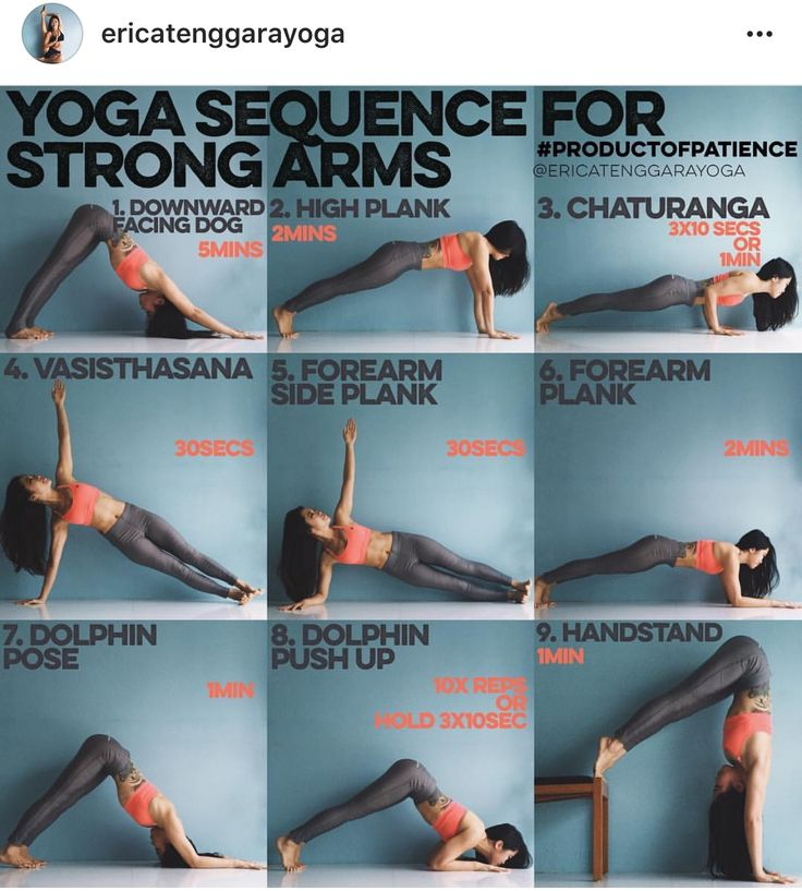Yoga sequence for strong arms