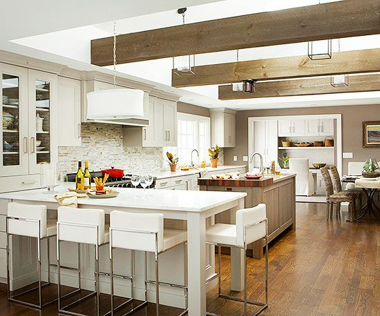 We would love to cook in this sleek and modern kitchen! Tour the rest of the space: http://www.bhg.com/kitchen/remodeling/makeover/kitchen-design-by-zones/?socsrc=bhgpin060713zonekitchen