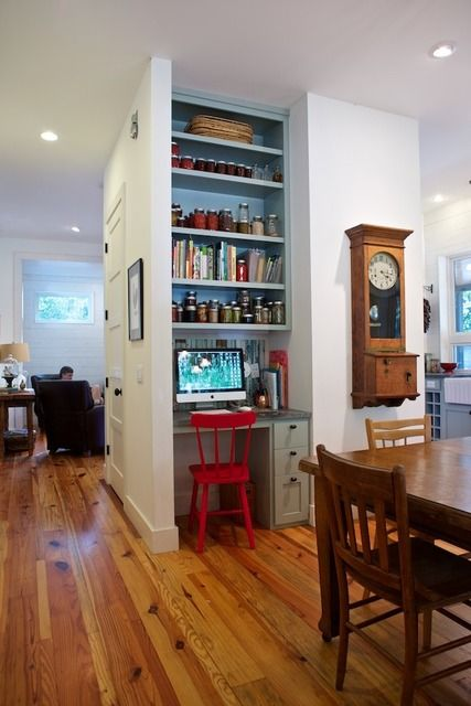 Great little desk nook in the kitchen. Love this one. Doesn't take up too much space.