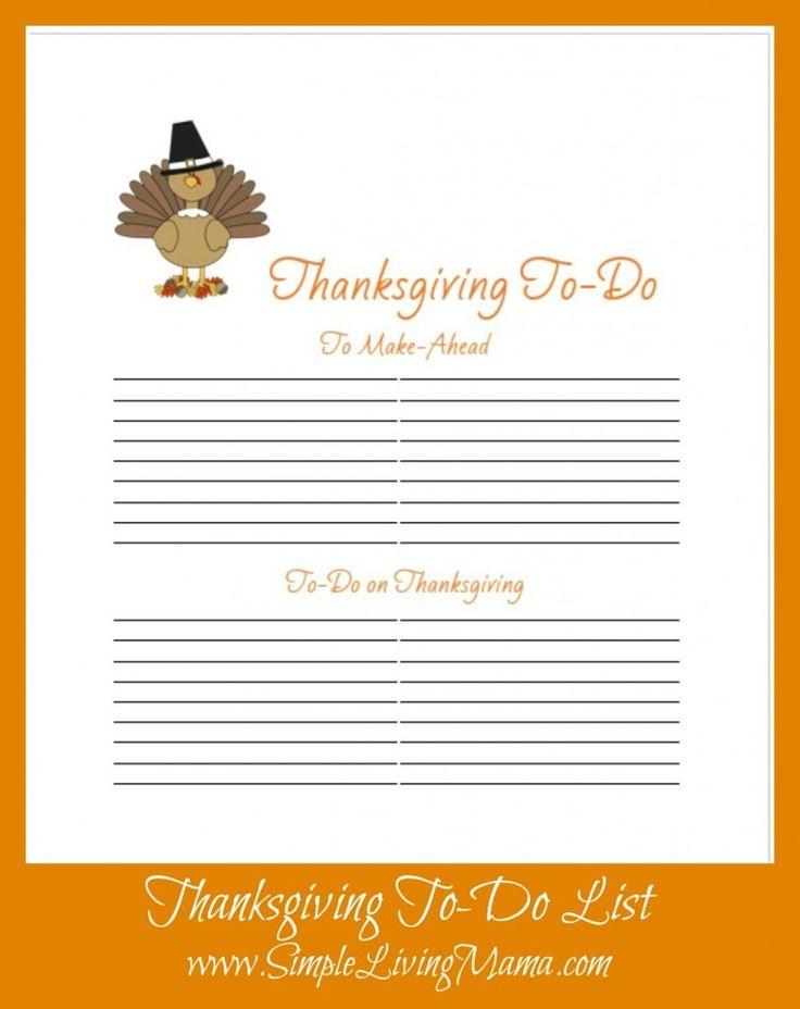 FREE Printable Thanksgiving Menu Planner - Simple Living Mama
