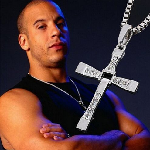 Check out our Vin Diesel Cross Necklace The Fast and the Furious Movie Pendant