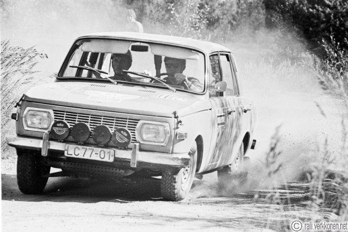 Jyväskylän Suurajot 1970    N:o 84, Günter Gries - Harald Würfel (DDR), Wartburg 353, sijoitus yleiskilpailun 29.