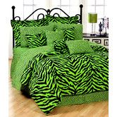 Found it at Wayfair - Lime Zebra Bedding Collection