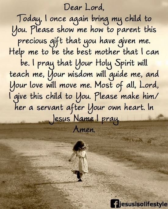 A prayer for my child