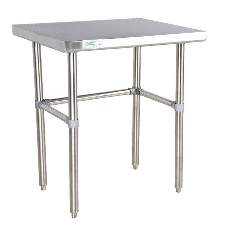 "Regency 30"" x 36"" Stainless Steel Commercial Open Base Prep Table #Regency"