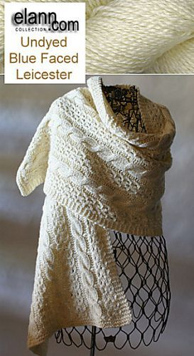 Coin Lace and Cable Wrap. Free pattern by Shui Kuen Kozinski