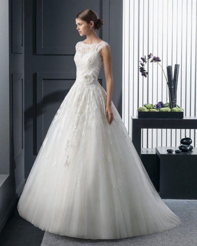 ロマンス イリュージョン チャーチ ボールガウン 花嫁のドレス ウェディングドレス Hro0134