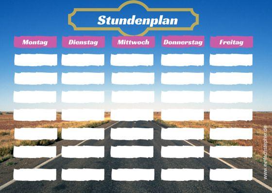 Schulanfang: Stundenplan zum gratis Download ⋆ einfach Stephie http://einfachstephie.de/2015/08/12/schulanfang-stundenplan-zum-gratis-download/