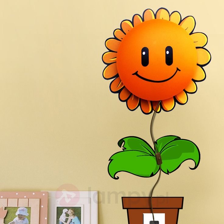 Wesoła dziecięca lampa ścienna Sunflower 5251003