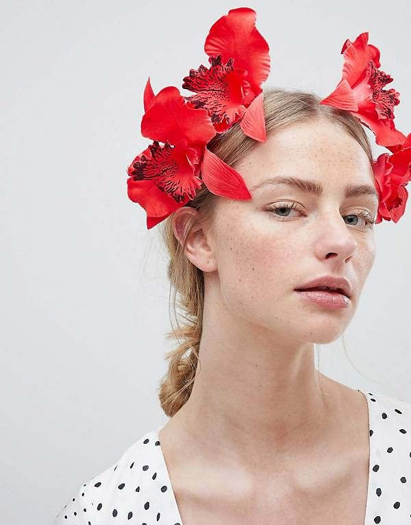 ASOS DESIGN Statement Colour Drench Orchid Headband