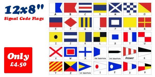 Signal Code Flags - Individual 12 x 8
