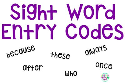 A fun way to get students to practice their sight words!