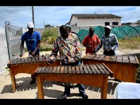 Marimba group Kwanele in township Khayelitsha, Cape Town, South Africa
