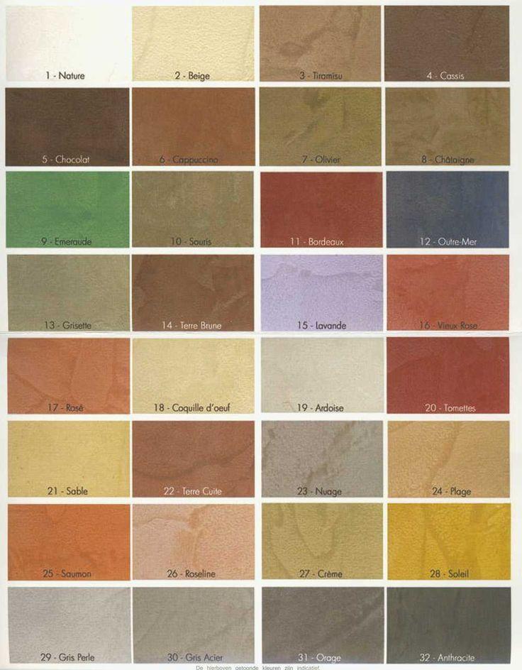 Beton Ciré fabrieks kleuren maar ook te verkrijgen in Ral nr